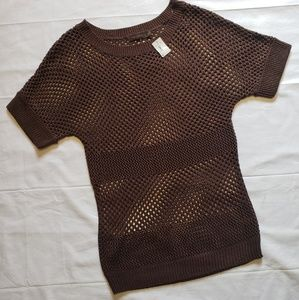 NWT The Limited Open Knit Short Sleeved Sweater